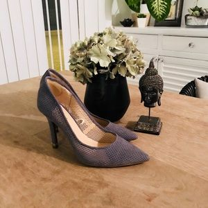 Guess Soft Blue Perforated Stilettos